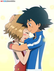 Amourshipping hug #2 by Amarant1