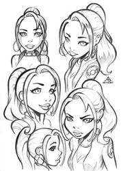 Extra 18 - Clarissa sketches