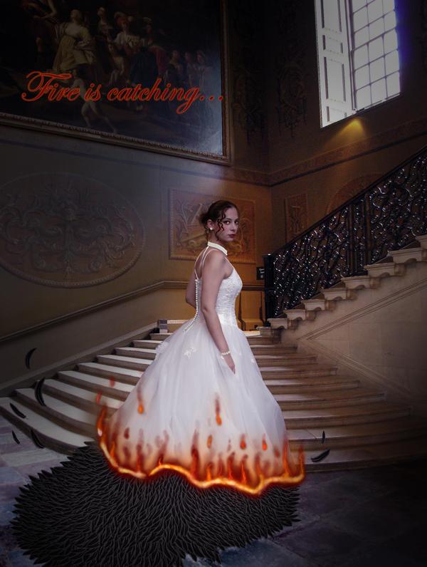 katniss everdeen wedding dres by uncannyphantom on deviantart
