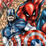 Captain America and Spider-man (Civil War)