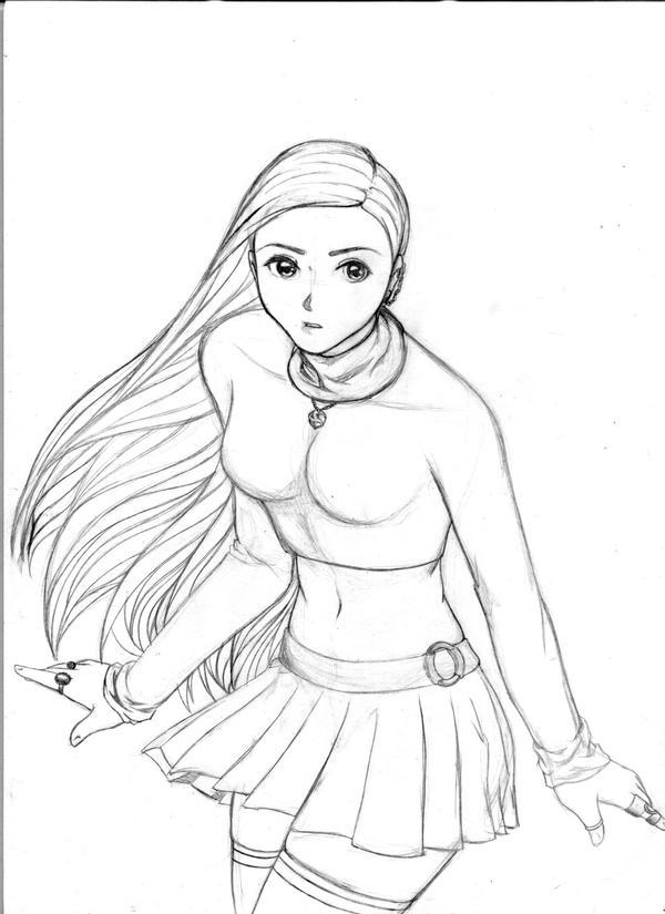 Line Drawing Female : Female wizard by evylynn on deviantart