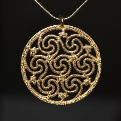 Celtic Seven Spiral Necklace by dfoley75