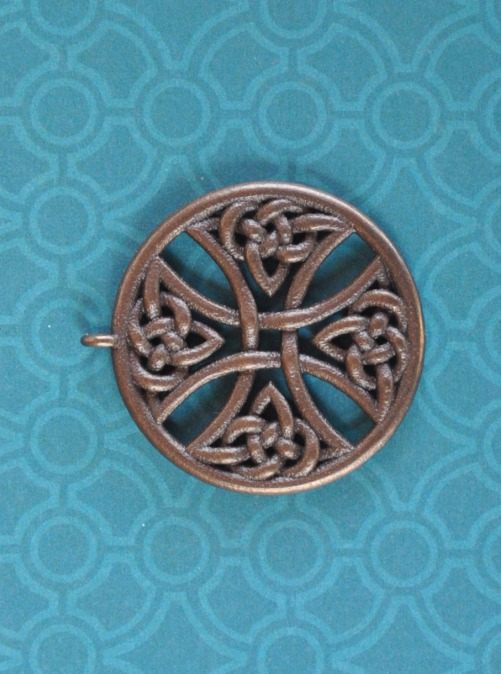 Round Cross 38mm Bronze by dfoley75