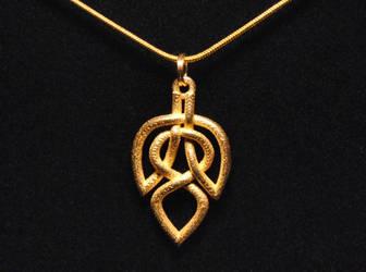 Celtic Knot Leaf Necklace by dfoley75