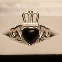 Onyx Claddagh Ring by dfoley75
