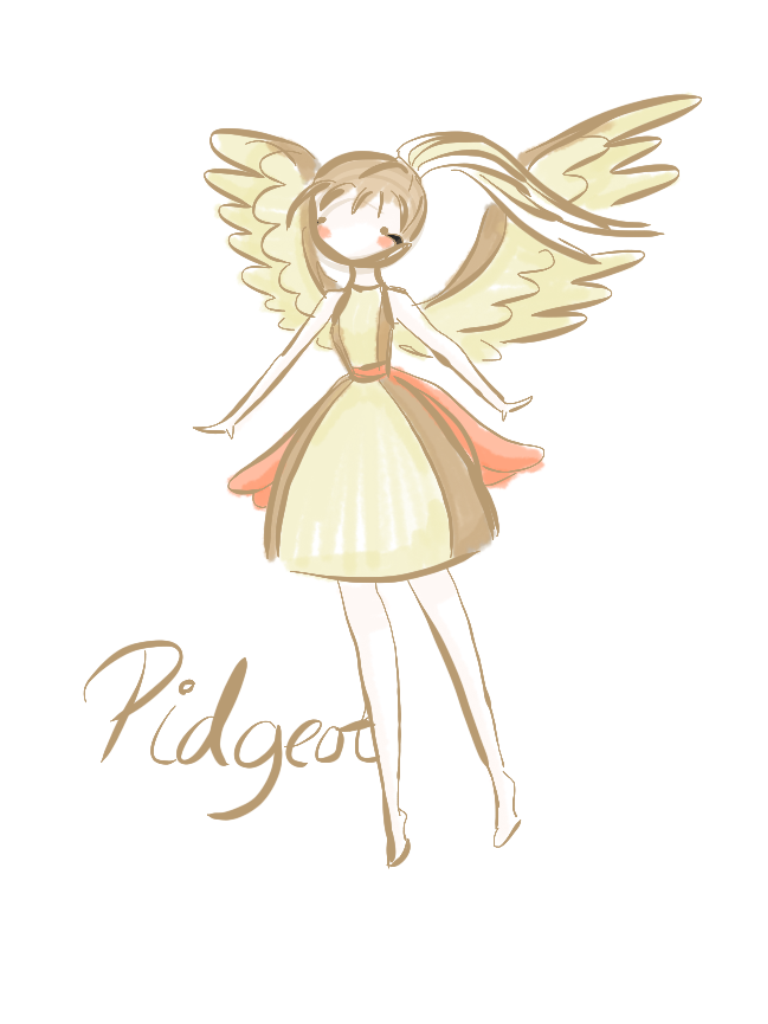 pokemon gijinka pidgeot by mintyred on deviantart