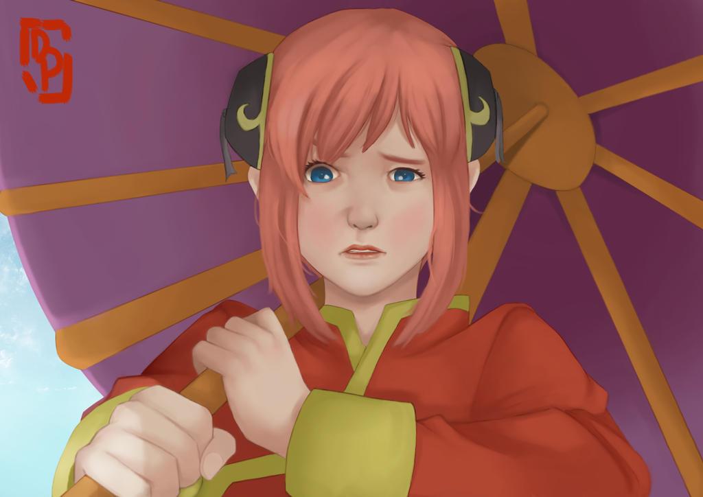 Kagura-Chan when she got annoyed by TryEka