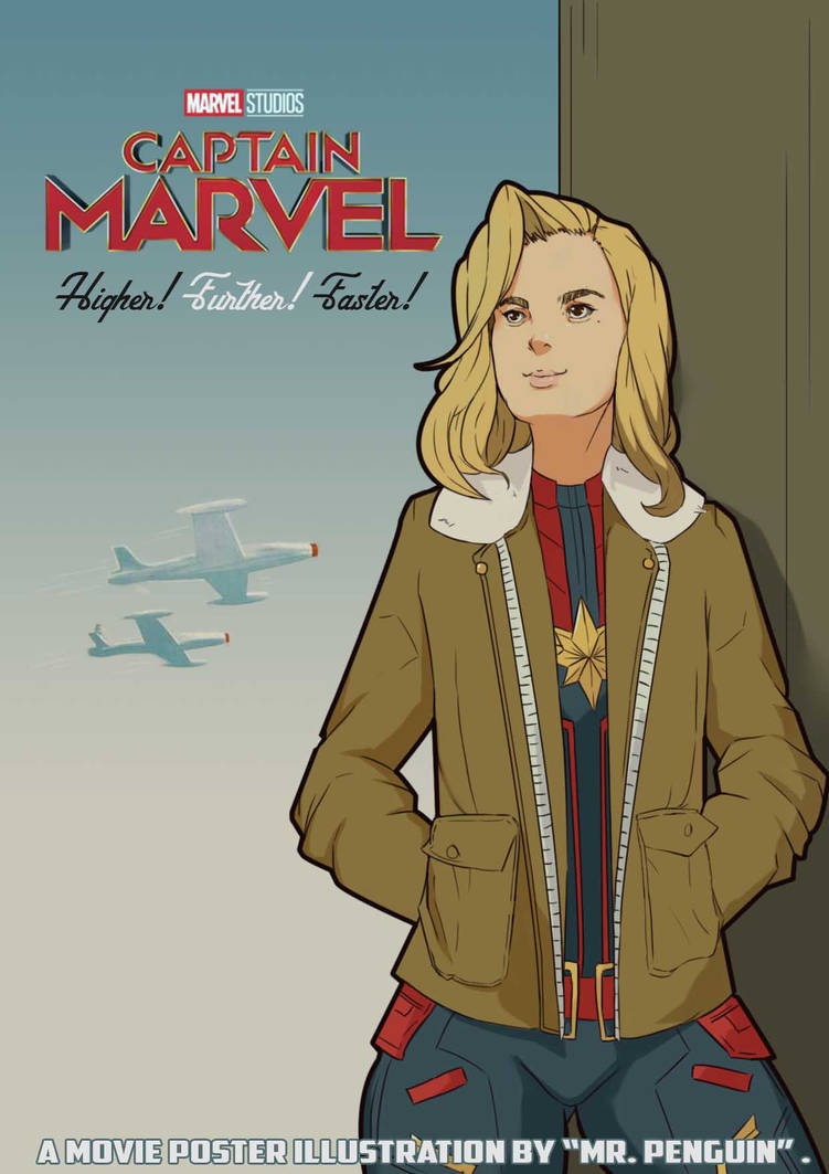 Captain Marvel Poster Style by TryEka