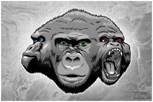 Primate Triumvirate by JMCarlyle