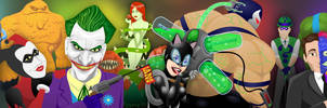 Batman Rogues Gallery by JMCarlyle