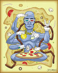 Cheesus, God of Pizza by JMCarlyle