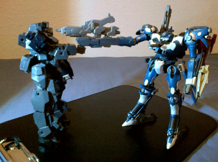 Standoff: Frame Arms Vs Armored Core! by PhantasmaStriker