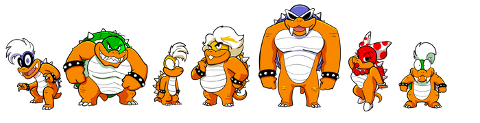 Koopa Kids SNES by FreakingArG