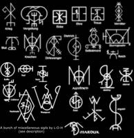 Miscellaneous sigils by librarian-of-hell