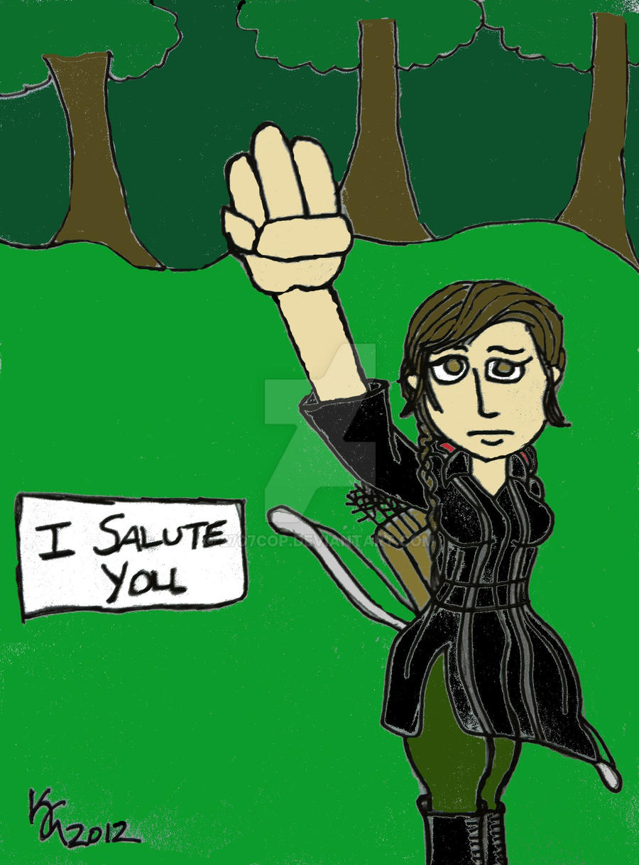 katniss salute by 2707cop on deviantart