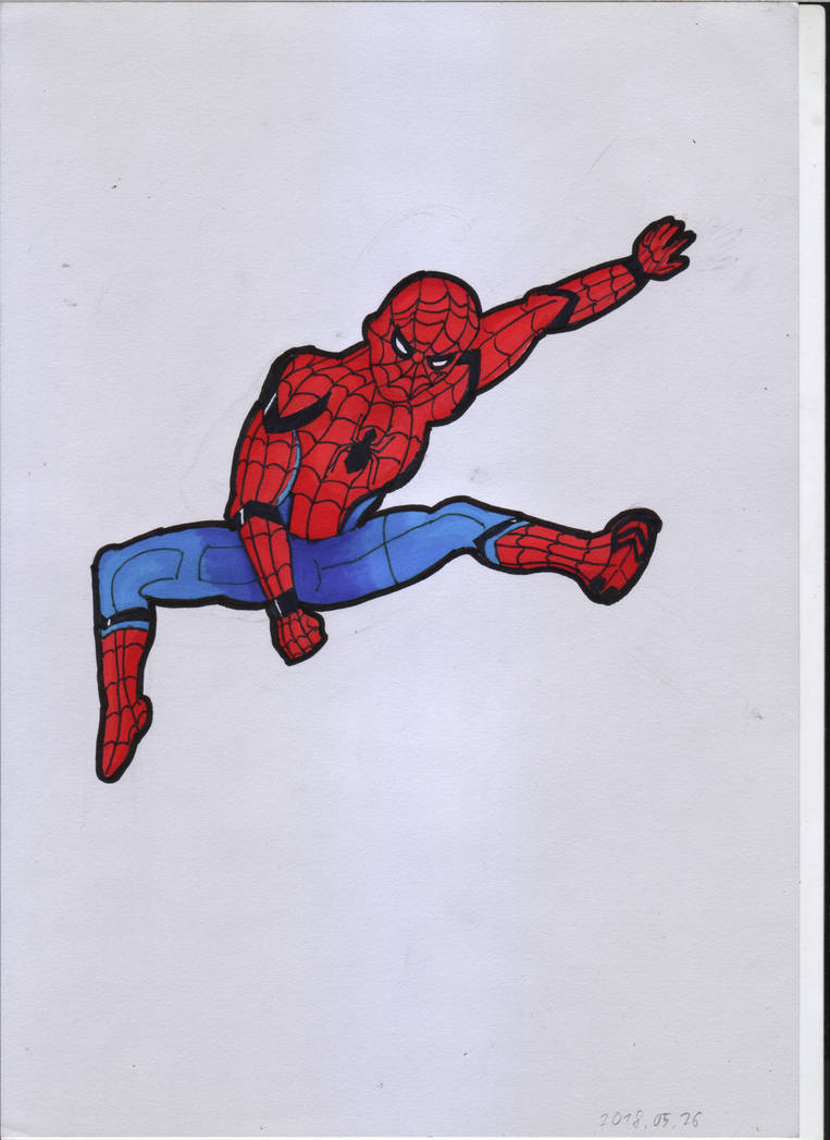 Spiderman from Spiderman Homecoming by ForestB