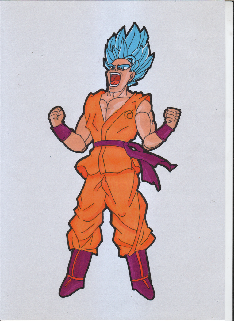 SSJ Blue Goku from Dragon Ball by ForestB