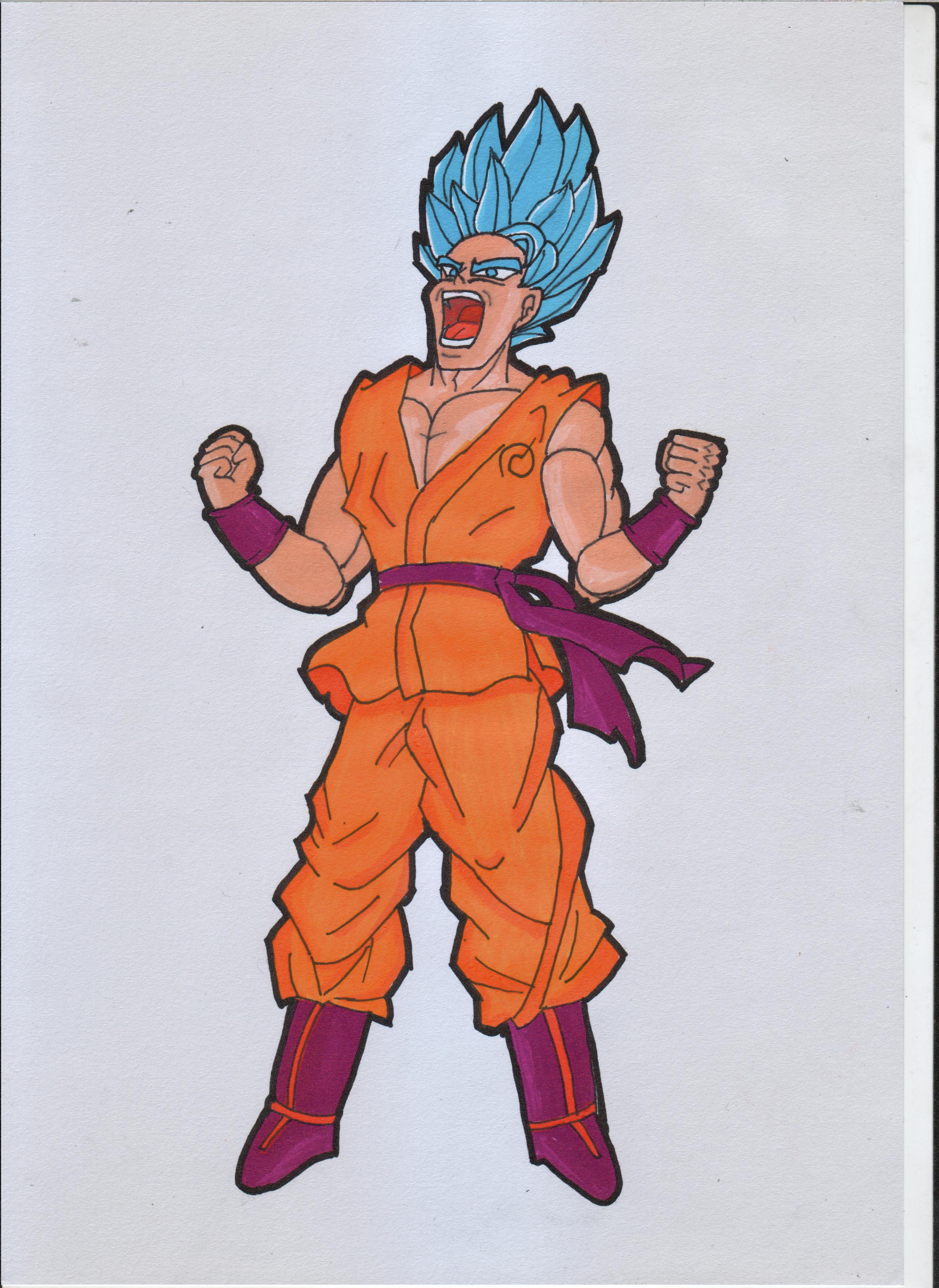 SSJ Blue Goku from Dragon Ball by ForestB