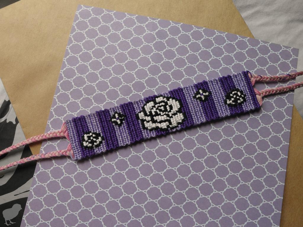 rose flower, Friendship Bracelet by Simpelway