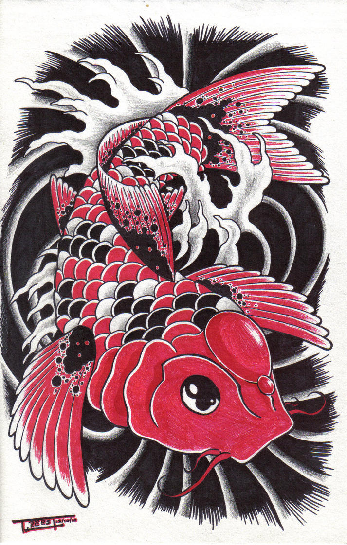 koi fish by spadge19 on DeviantArt