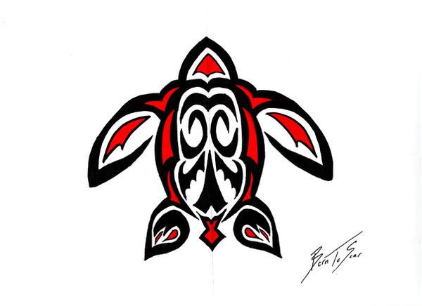 tribal sea turtle tattoos.