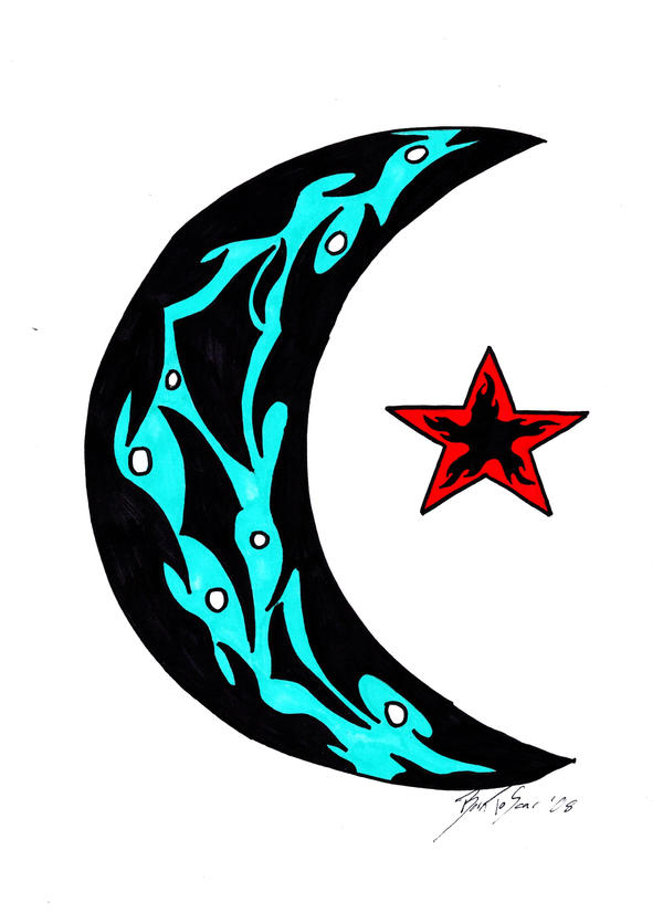 Moon star tattoos don't have the deep symbolic meaning the other star