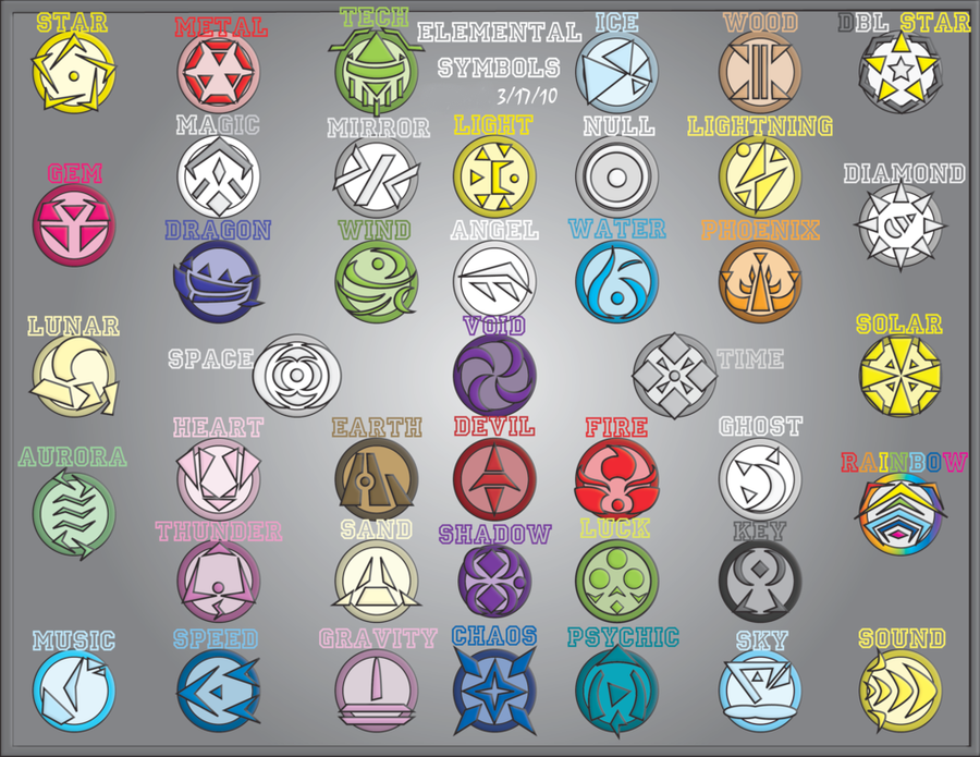 Elemental Symbols Redux By Pizaru Chu On Deviantart