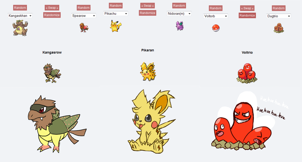 pokemon fusions how to draw