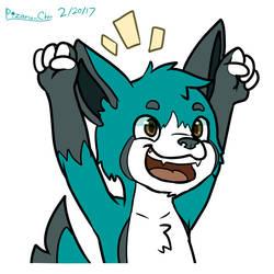 Commish:: Triumphant Dog by Pizaru-Chu