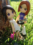 2 girls in the park
