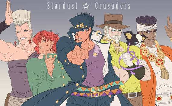STARDUST CRUSADERS by thekingofqueens25