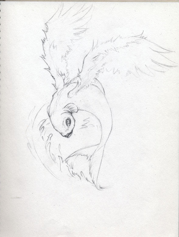 Sketch book flying fish by azzuri27 on deviantart for Flying fish drawing