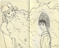 Grandfather Frost and The Snow Maiden by Yumemi-chan