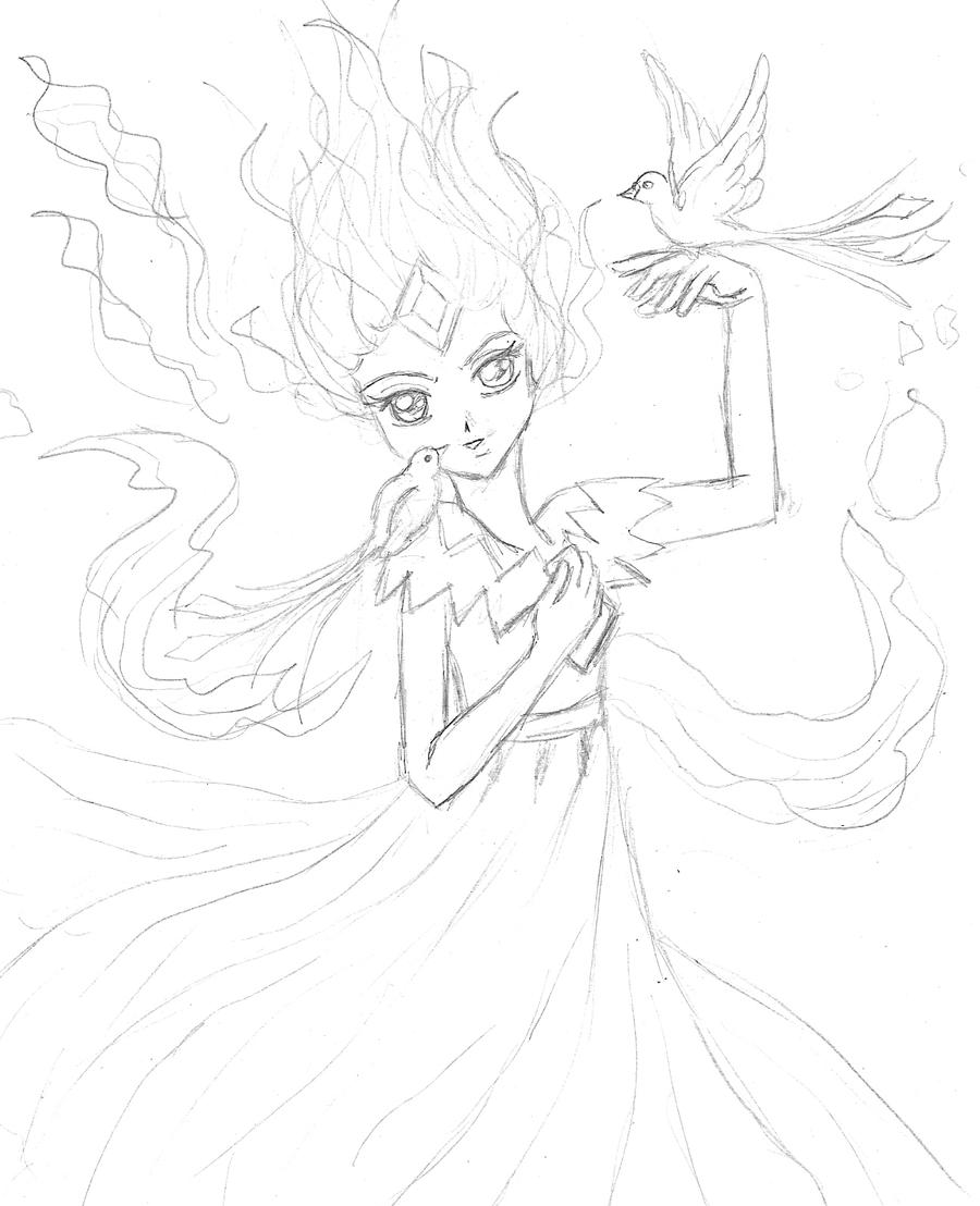 flame princess coloring pages anime - photo#17