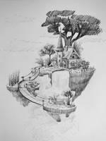 fantasy city by bsyana
