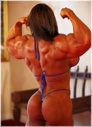 Tiny bikini Big muscles by SuperGirlStrength