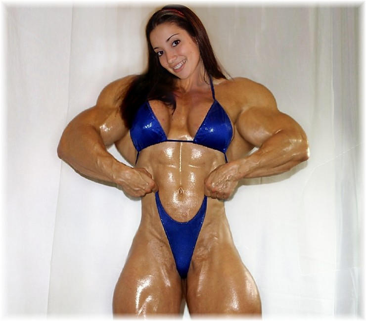 Megan Muscled up Oiled up by SuperGirlStrength