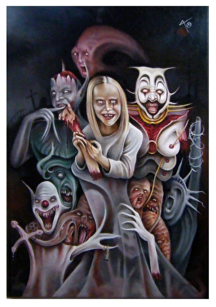 halloween oil by imagist
