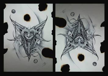 baphomet head sketch by imagist