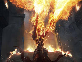 Chandra / Ravaging Blaze by Aleksi--Briclot