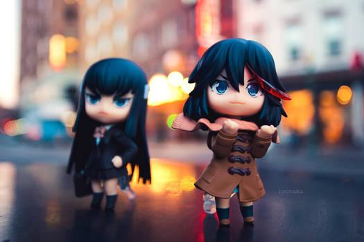 Ryuko and Satsuki winter by frasbob