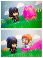 Ryuko and Mako Easter by frasbob