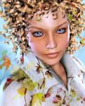 Autumn girl by AddyRedragon