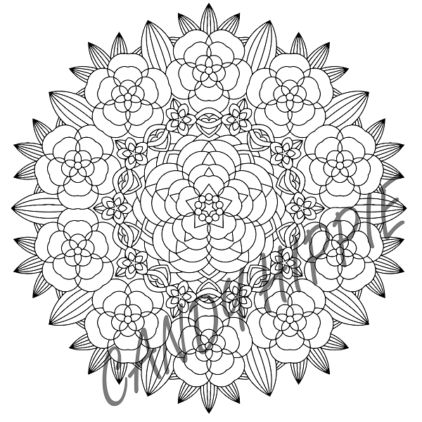 flower garden mandala by candy hippie on deviantart