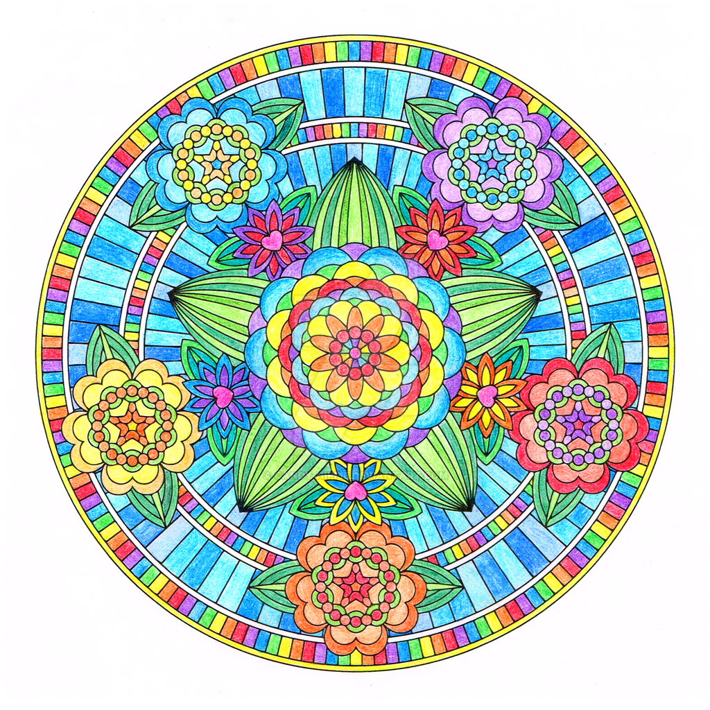 Flowers Of Love Mandala Colored By Candy Hippie On DeviantArt