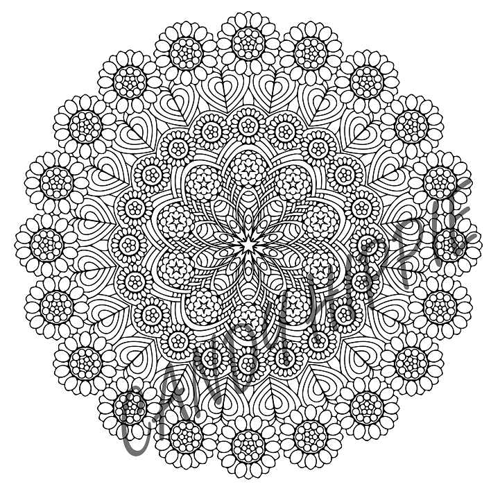 Sunflower Weave Mandala By Candy Hippie