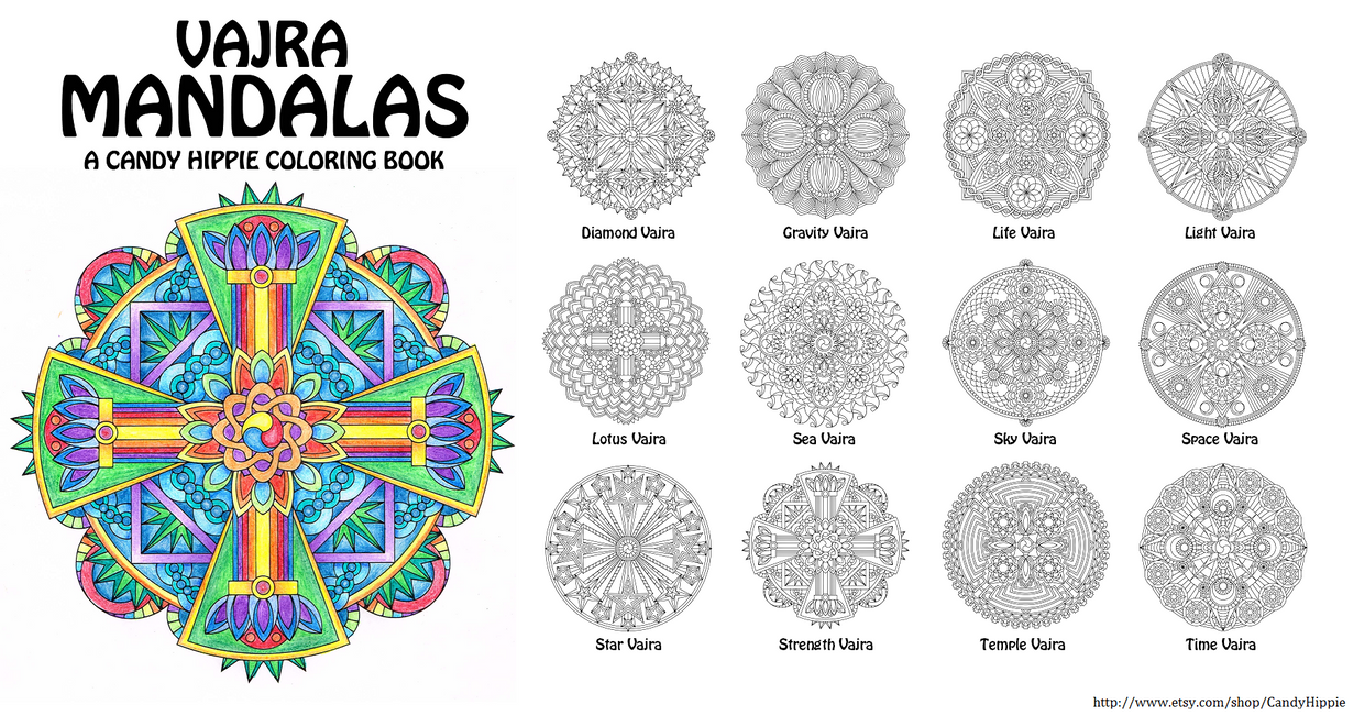 Vajra Mandalas Adult Coloring Book by candy-hippie on DeviantArt