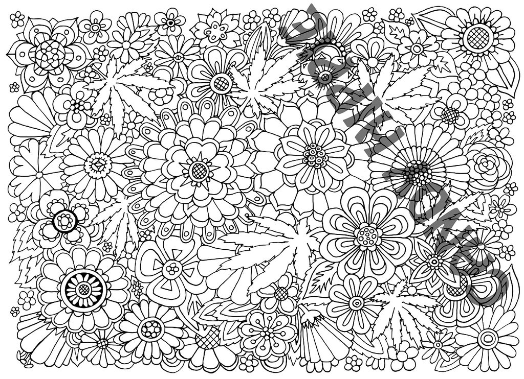 Hippie garden by candy hippie on deviantart for Hippie coloring book pages