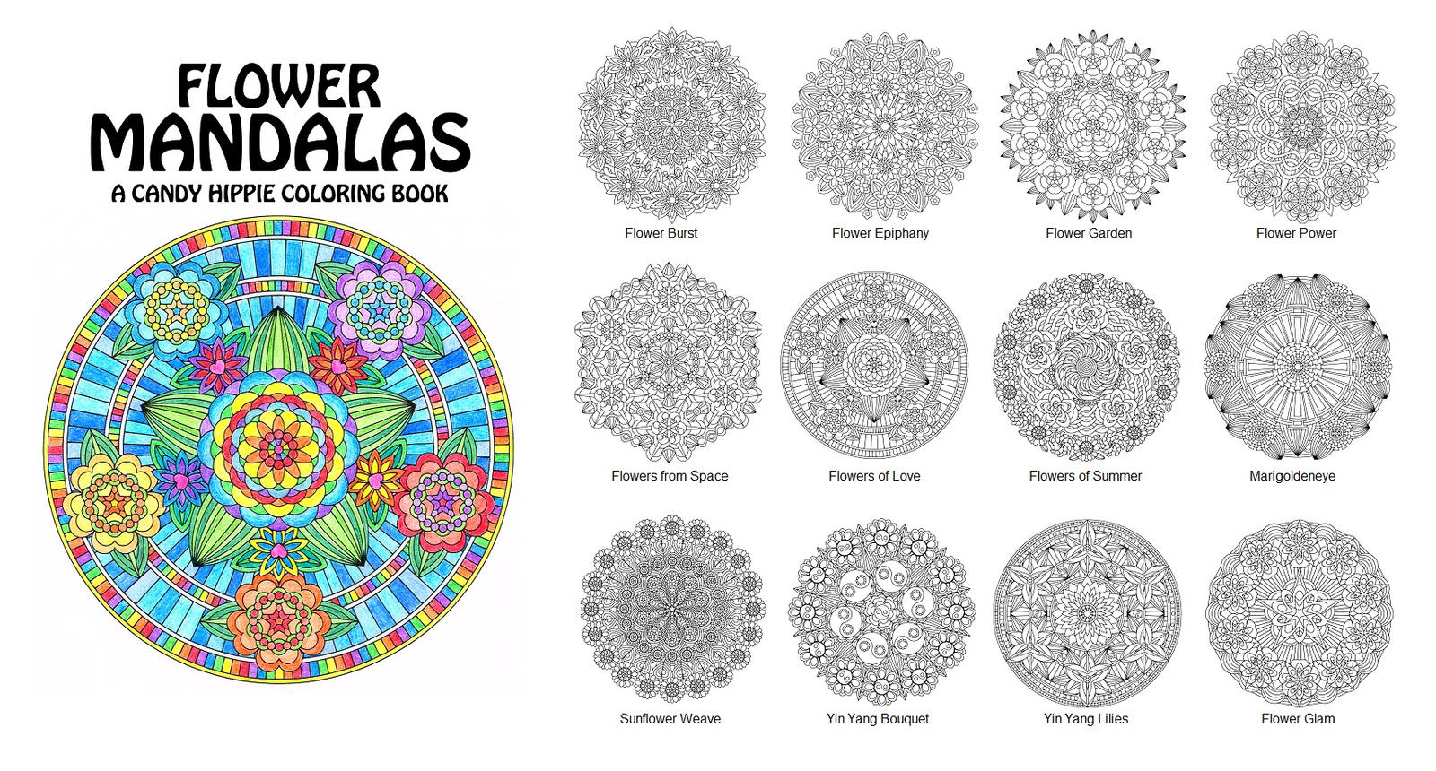 89 Flower Coloring Book For Adults