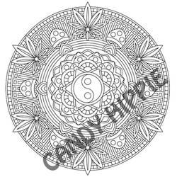 Free mandala coloring page: The Basis of Nature